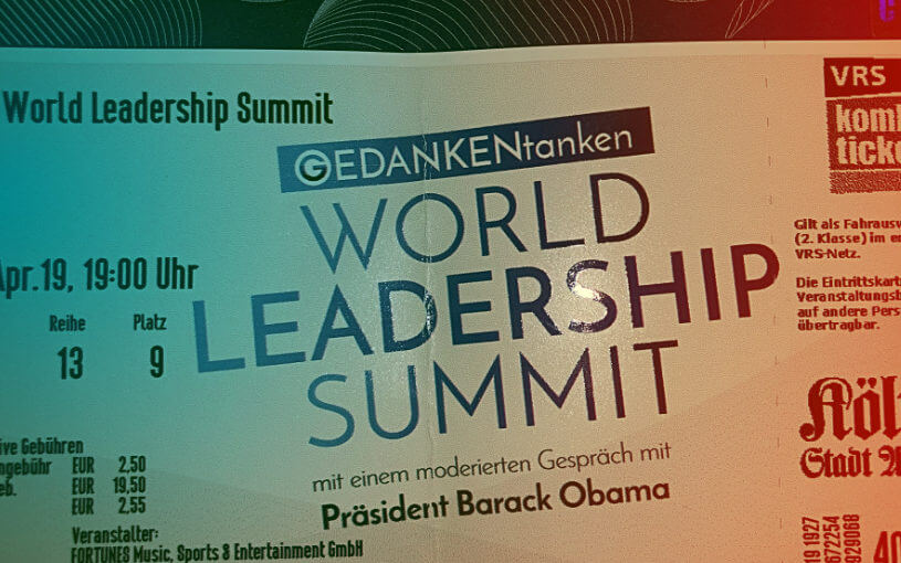 Obama in Köln – World Leadership Summit